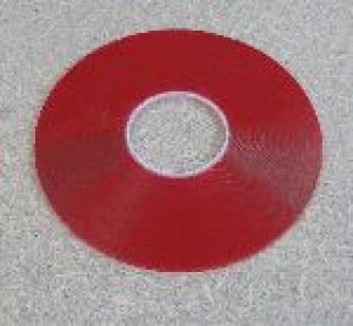 Двусторонний скотч Stokvis 6мм х 33м 1мм прозрачный - рулон